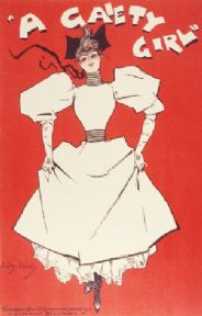 Vintage theatre event poster - A Gaiety Girl